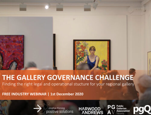 INDUSTRY WEBINAR: THE GALLERY GOVERNANCE CHALLENGE